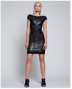 Alexi Freeman Chain Lace Party Dress